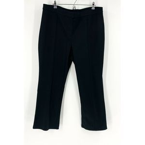 J. Jill Black Cotton Ponte Straight Leg Pants